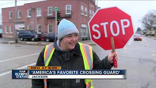 Meet 'America's favorite crossing guard' - Video