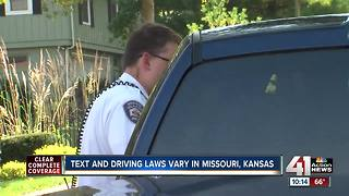 Text and driving laws vary in Missouri, Kansas - Video