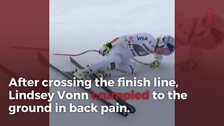 Lindsey Vonn Suffers Back Injury Ahead Of Olympics - Video