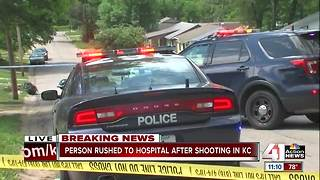 Man rushed to the hospital after shooting in KC - Video