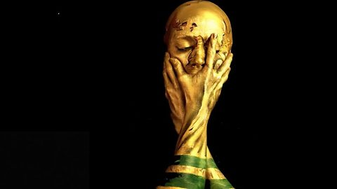 She's a keeper! Make-up artist creates amazing world cup trophy look!