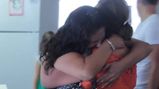 Sisters reunited after 25 years apart