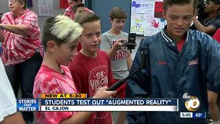 El Cajon students test out Google's new 'augmented reality' - Video