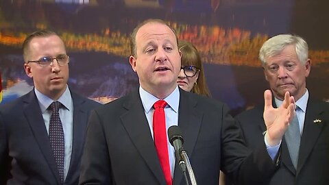 Full news conference: Polis says Colorado reinsurance plan will slash health premiums