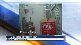 Salvation Army red kettle stolen from Caledonia Walgreens - Video