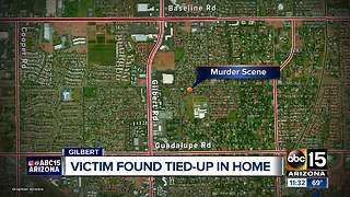 Gilbert victim tied-up in home - Video
