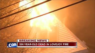 One child dead after 3-alarm Lovejoy fire