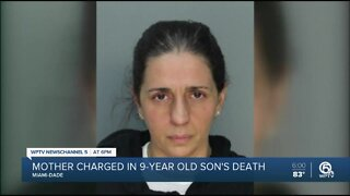 Mother charged in 9-year-old's death