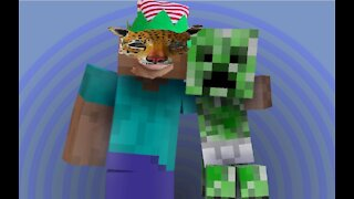 Me playing Minecraft
