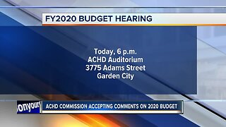 ACHD Commission holding FY2020 budget hearing