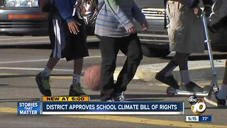 San Diego Unified School District approves school climate bill of rights