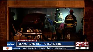 Jenks couple homeless after fire destorys home