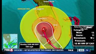 Hurricane IRMA 8AM Saturday Update - Video
