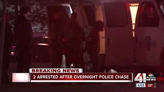 2 arrested after police chase through several cities - Video