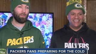 Packers fans prepare for bitterly cold playoff game - Video