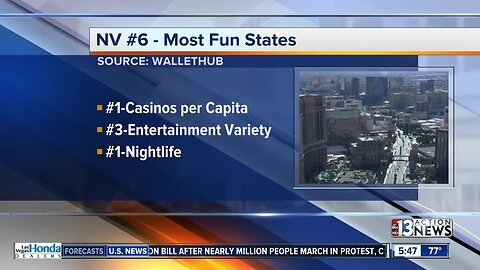 Nevada is not the most fun state