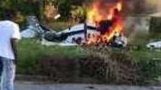 Teen Survives Deadly Plane Crash, Pulls Himself From Fiery Wreckage in Detroit - Video