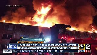 AARP donates 5K to Hagerstown fire victims - Video