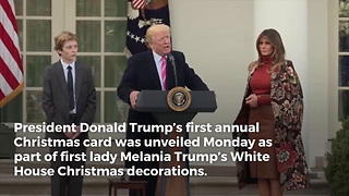 White House Releases Trump's First Christmas Card As President, 1 Huge Difference from Obama's Card - Video