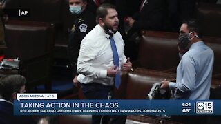 Rep. Ruben Gallego used military training during Capitol riots