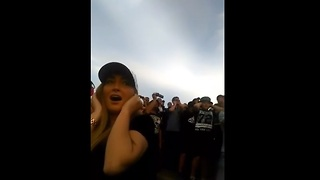 Woman's priceless reaction to first Top Fuel Dragster event - Video