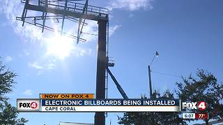 Electronic billboards being installed - Video