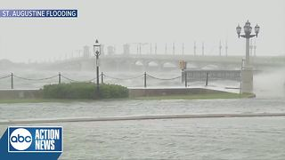 Flooding in St. Augustine due to bands from Irma - Video