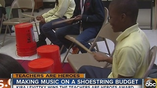 Kira Levitzky finds unique ways to teach music to her students on a shoestring budget - Video
