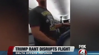 Trump supporter's rant goes viral