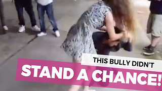 Tough Girl Takes On Bully And Shows Him Who Is The Boss - Video
