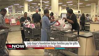 Lady Gaga's foundation helps families pay for gifts - Video