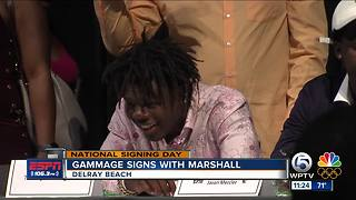 Gammage Surprises Signing With Marshall - Video