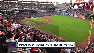 Cleveland Indians extending netting down foul lines before Opening Day