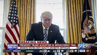 President Trump acquitted in impeachment trial