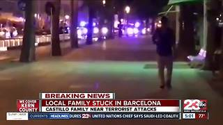 Local Bakersfield family stuck in Barcelona