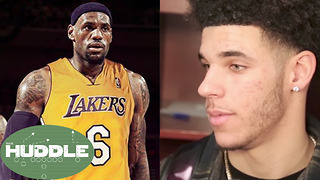 Did LeBron James Tell Lonzo Ball He's Coming to the Lakers!? -The Huddle - Video