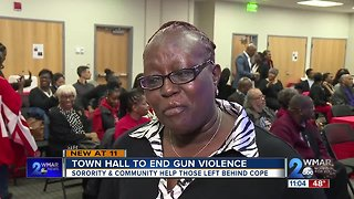 Sorority and community hold town hall to end violence