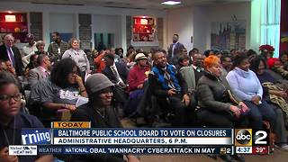 Baltimore City School Board set to hold final vote on school closures