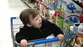 Little Boy Gets Surprised By Animated Mickey Mouse Toy
