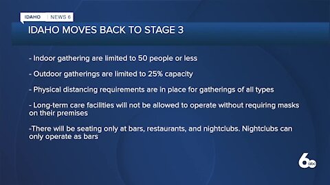 Idaho Moves Back to Stage 3