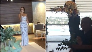Bride Starts to Walk Down the Aisle But Stops to Deliver This Message to Her Groom Instead