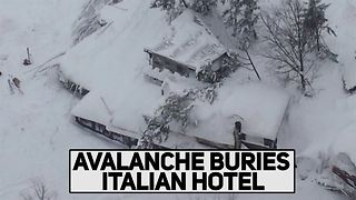 Buried alive: Avalanche hits Italian ski resort - Video