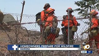 Homeowners prepare for wildfire