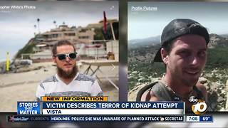 Victim describes terror of kidnap attempt - Video