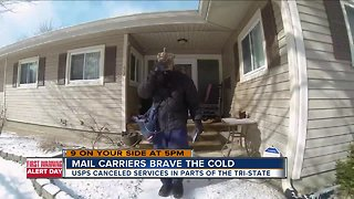 Mail carriers brave the arctic cold