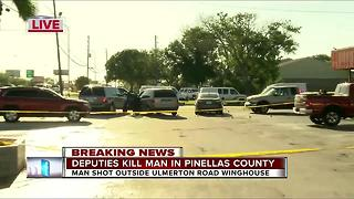 Deputies kill man in Pinellas Co. - Video