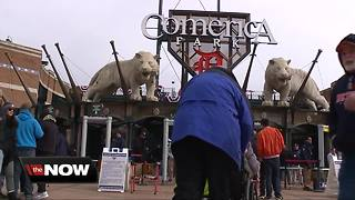 Fans head to Comerica Park for an Opening Day redo