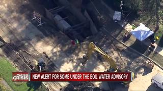 New alerts for some under boil water advisory - Video