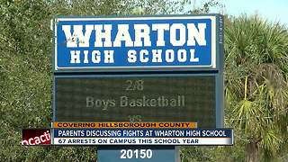 Parents discussing fights at Wharton High School - Video