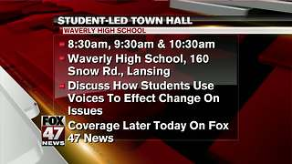 Student-led town hall Wednesday morning at Waverly